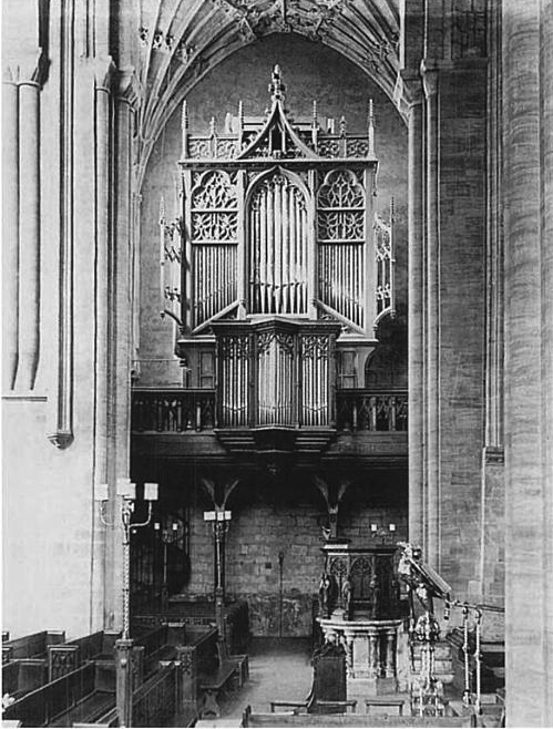 Organ of Sherbourne Abbey